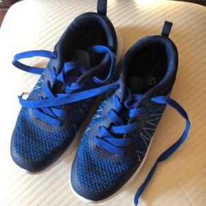 Brand new, blue, fabric casual lace ups, size 4C